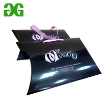 Custom clear plastic PVC/PET pillow packaging box with hang hole