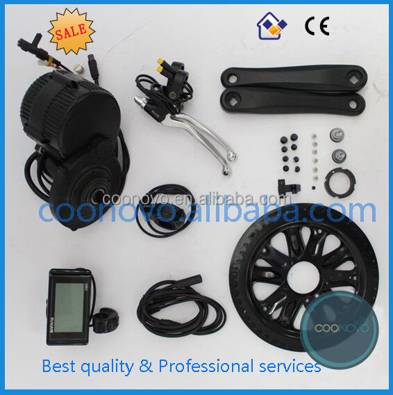 hot electric bike conversion kits 8fun bbs01 brushless mid drive motor center position motor 750w 48v with battery
