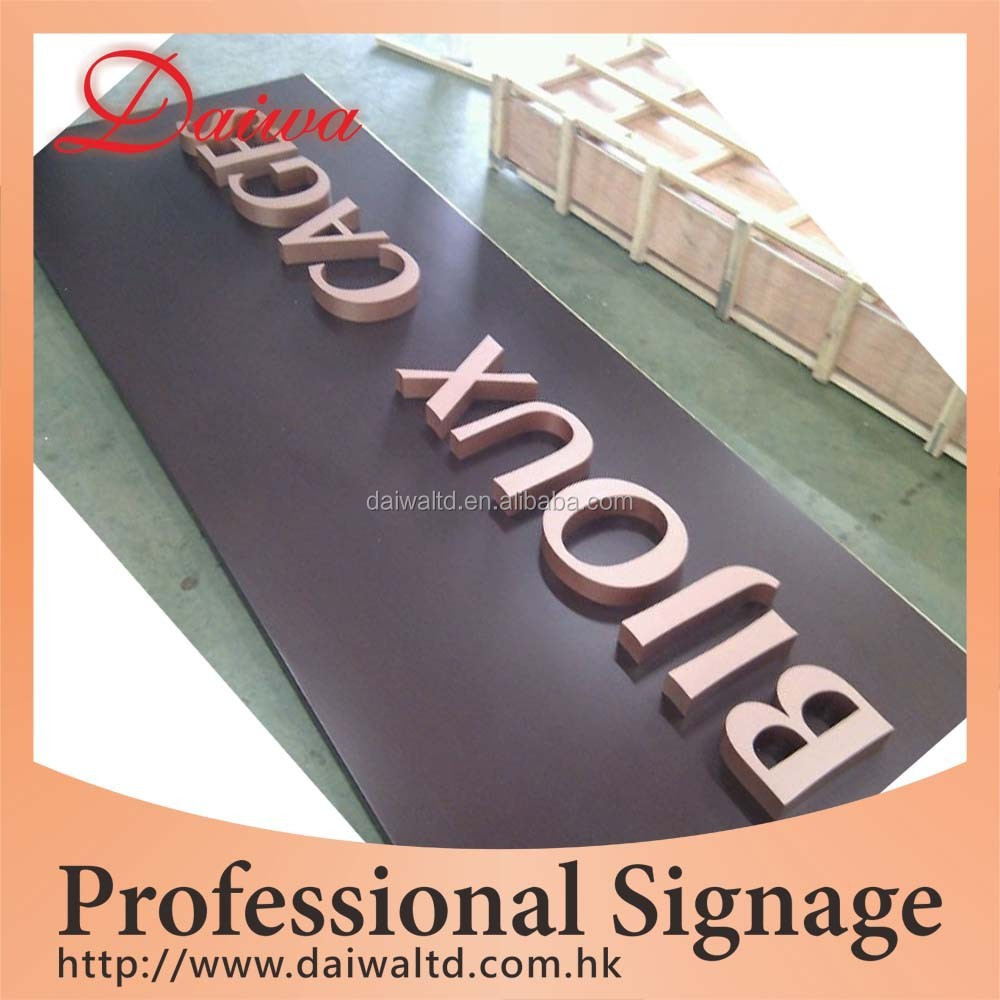 Indoor House Paint Stainless-steel Letters Signboard