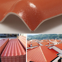 synthetic resin spanish roof tile with ISO9001 certificate