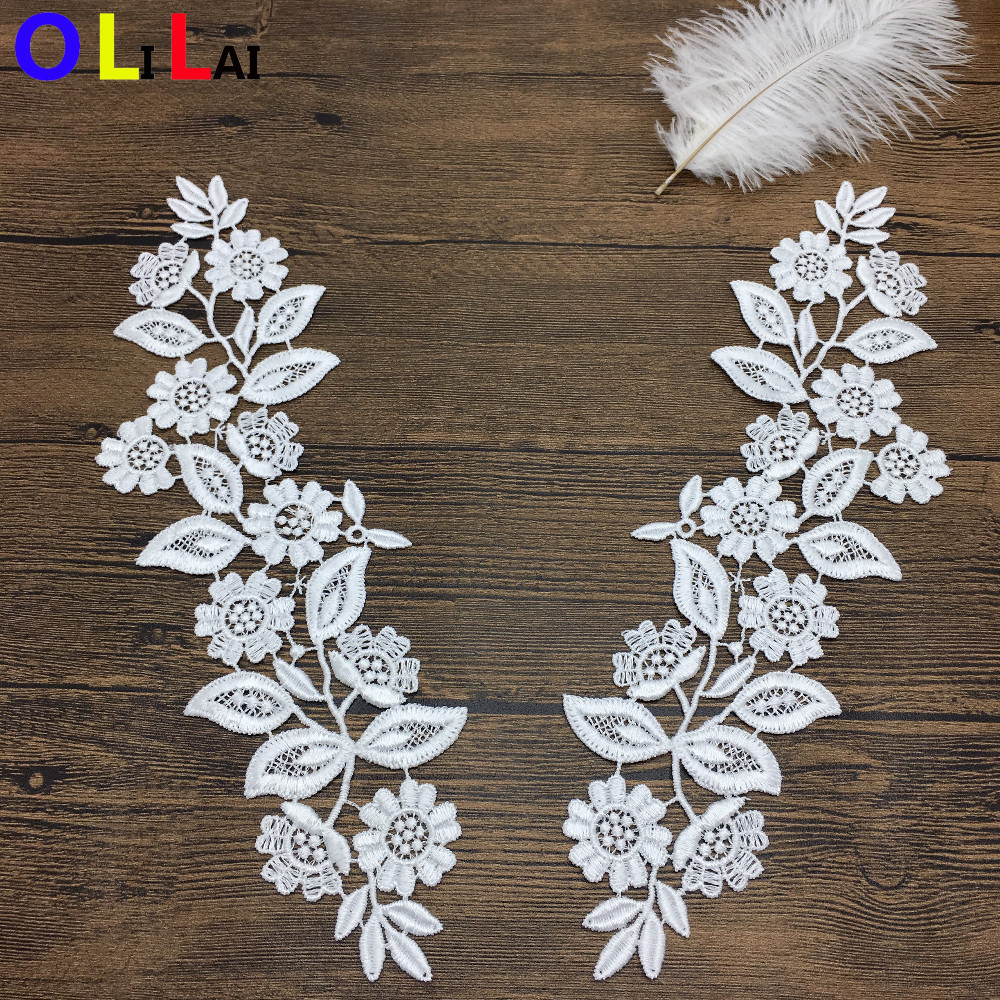OLN14820 Latest beautiful flower design neck embroidery design for dress