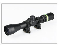 OEM 3-9x40 tactical military long eye relief green fiber riflescope airsoft gun hunting 3-9x40 rifle scope