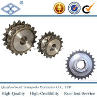 ISO standard pitch 25.4 high precision hard teeth agricultural machinery double pitch ANSI steel sprocket wheels 2080