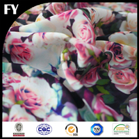 Custom new design high quality digital printed silk print fabric