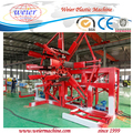Double station PE pipe extrusion machine for drain pipes