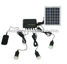small and cheap portable solar light system with 3 led lights for home use