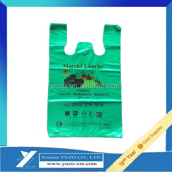 Shopping Industrial use t-shirt bag with side gusset