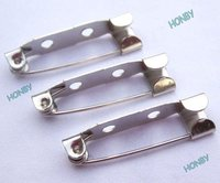 32mm Metal Brooch Back Bar Pin Findings in Silver Color