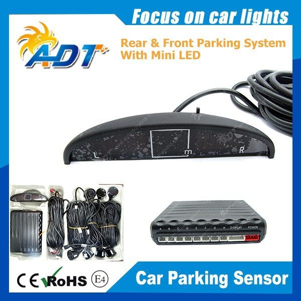 Vehicle Parking Sensors Car Parking Reverse Backup Radar 8 Sensors With Display