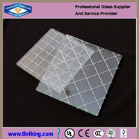4mm clear wired glass window glass