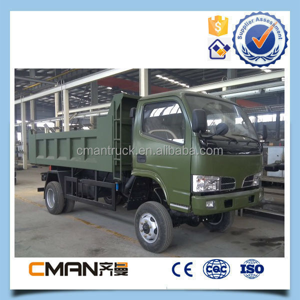 hot selling dongfeng 4x4 small dump truck 5ton payload with light weight cheap price