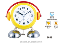 Super cute clock like kids with a headset2015 Hot Selling Metal bell double decorative clock
