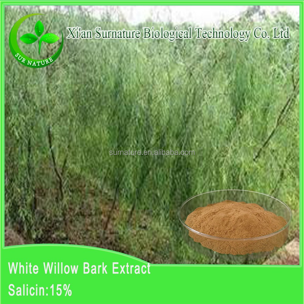 Made herb medicine ingredients Anti-rheumatism White Willow Bark P.E. Spot supply