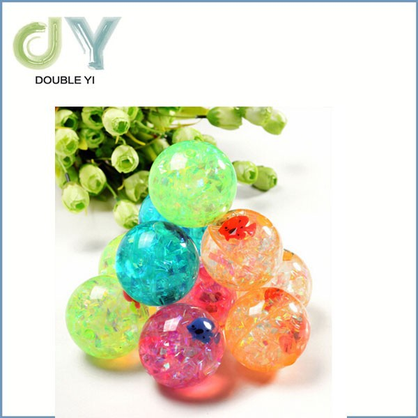 Hot Sale Rubber Toy Bouncing Ball Hard Clear Plastic Balls