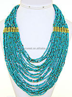 Beadwork Necklace Glass bead Indian