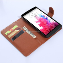PU Wallet Leather Folio Case for LG G3 Stylus, Retro Style Leather Case, Multi Function Case