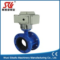 Unique design butterfly valve with positioner