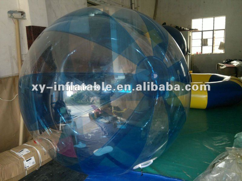Summer Hot Items Transparent with Blue Stripes TPU Inflatable Water Ball