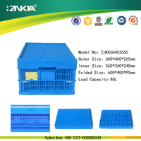 Plastic perforated box for moving with top lid