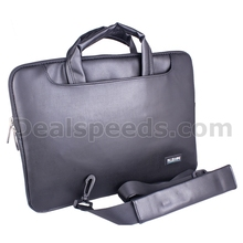 Levanpro Black Pu Leather 15 inch Laptop Briefcase Shoulder Bag Case for Macbook Pro Retina 15.4