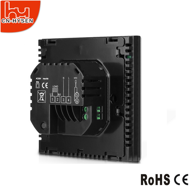 Black Color and Floor Heating Thermostats Floor Heating Part Type wi-fi thermostat