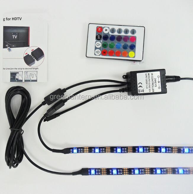 Tv rgb led bande lumi re r tro clairage kit 5 v usb 5050 rgb led bande couleur lumi re - Kit de retroeclairage led pour tv ...