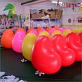 New Attractive Multi-color LED heart Ball For Advertising / PVC Lighting Inflatable Valentines Wedding Heart Balloon