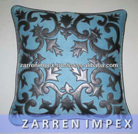 Velvet PU Patchwork Cushion Cover