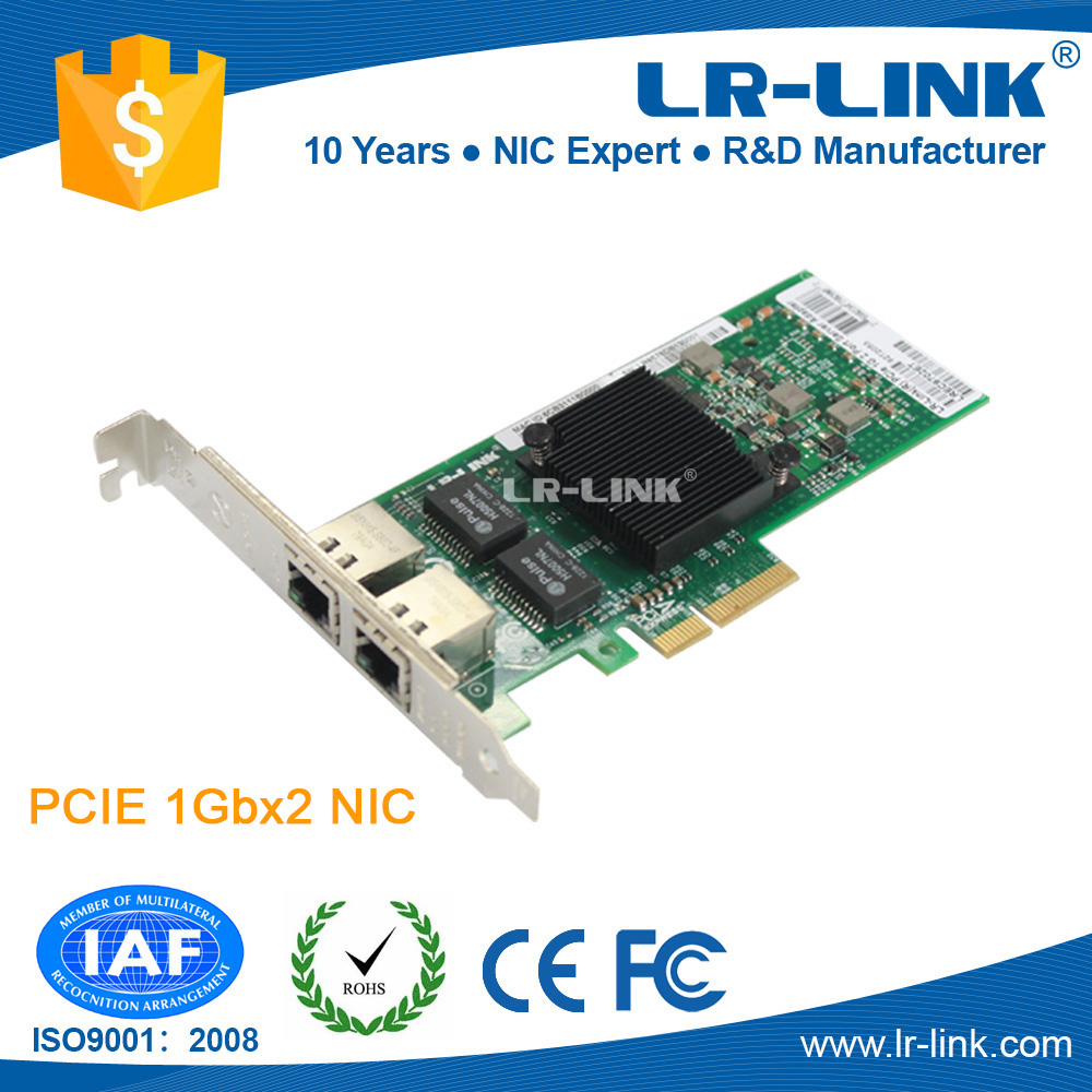 LR-lINK LREC9702ET Intel 82576 pci-e RJ45 2 port network card with low profile bracket