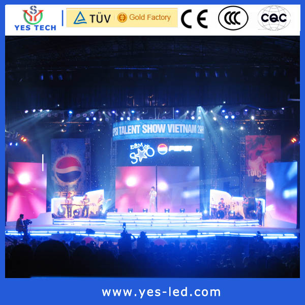 Vietnam Pepsi Cola propaganda sixi P7.62 indoor commercial video stage led screen display