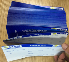 Paper printing thermal airline boarding pass