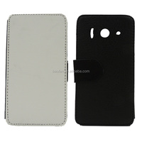 Hot selling Sublimation card holder leather flip cover for huawei Y300
