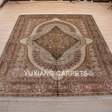 handmade 100% silk persian rugs for sale factory directly