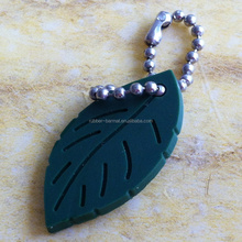 Leaf pvc keychain key ring custom
