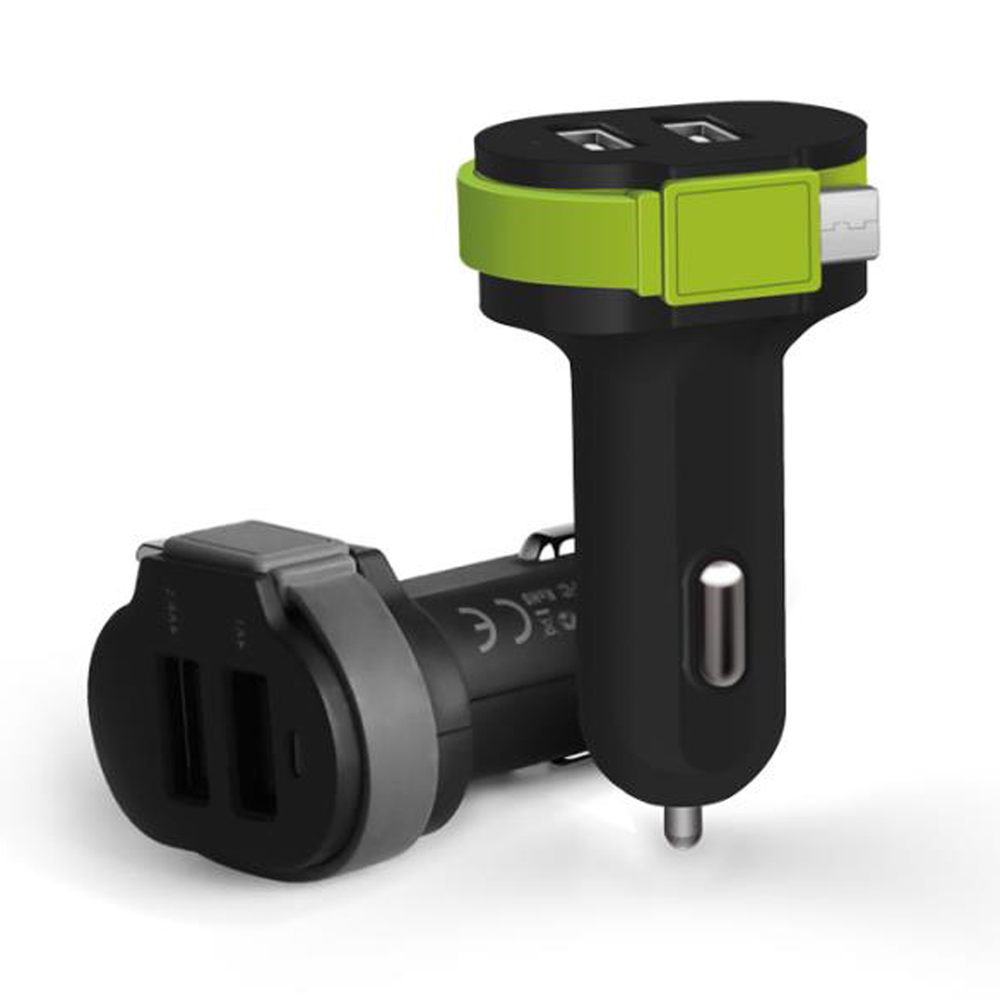 3.4A Quick charging <strong>2</strong> usb car charger for Android