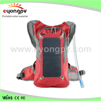 6.5W Solar Powered Hiking Bag Pack for Cell Phones 5v Device Charge