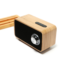 Home party dual horn loudspeakers speaker wireless bluetooth,super bass stereo wooden bluetooth speaker
