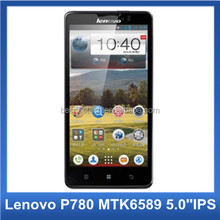 "100% Original Lenovo P780 MTK6589 quad core Android 4.2 5.0"" Gorilla Glass Screen 3G GPS cell phone"