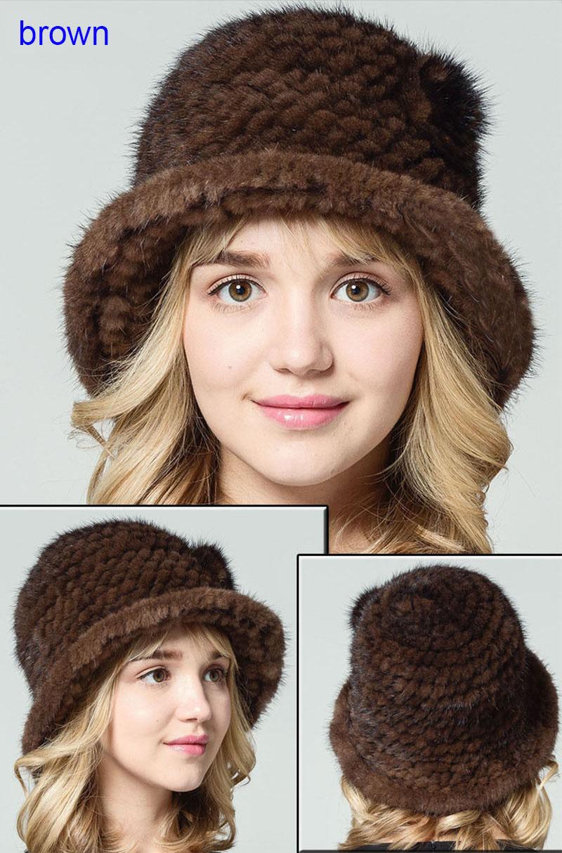 mink fur hat brown2