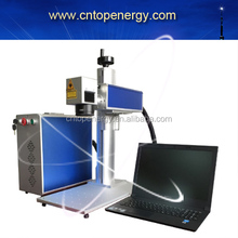 Factory Price 20W mini CNC Desktop Portable Fiber Gold Laser marking machine for metal and Non Metal marking for sale