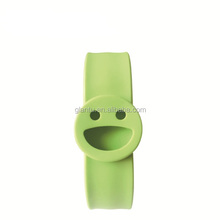 Eco-friendly green promotional silicone slap mosquito repellent bracelet