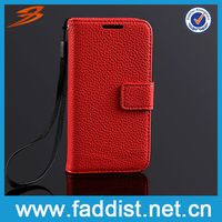Hot Flip Leather Case for Samsung Galaxy s4 mini i9190 Red Case