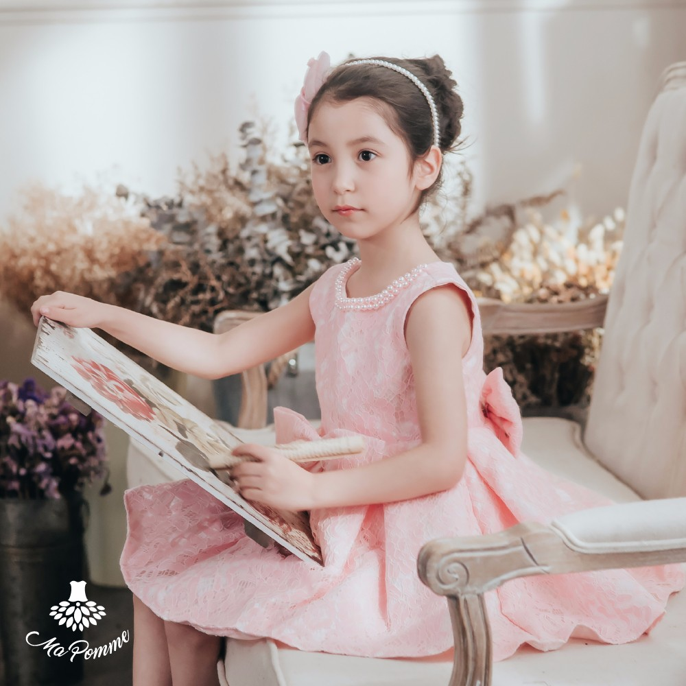 Europe Style Dignified Fancy Boutique Child Girl Dress