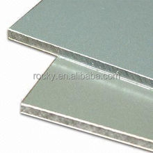 Anodized silver brushed aluminum composite panel