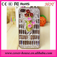 2012 For iPhone 5 5G Hard crystal diamond crystal case For iPhone 5 5g ,Luxury crystal diamond hard cover case cell phone case