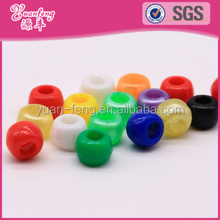 Garment accessories customized children plastic acrylic pony beads