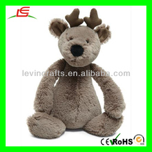D824 Plush Reindeer Used Stuffed Animal