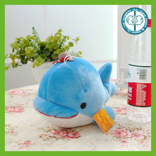Popular stuffed marine animal cheap plush dolphin toy with small hat