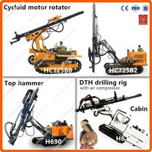 Max drilling diameter 200mm & deep 100m portable diesel tractor mounted drilling rig