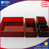 Various shape color acrylic serving tray chilled serving tray party platters condiment and vegetable serving display